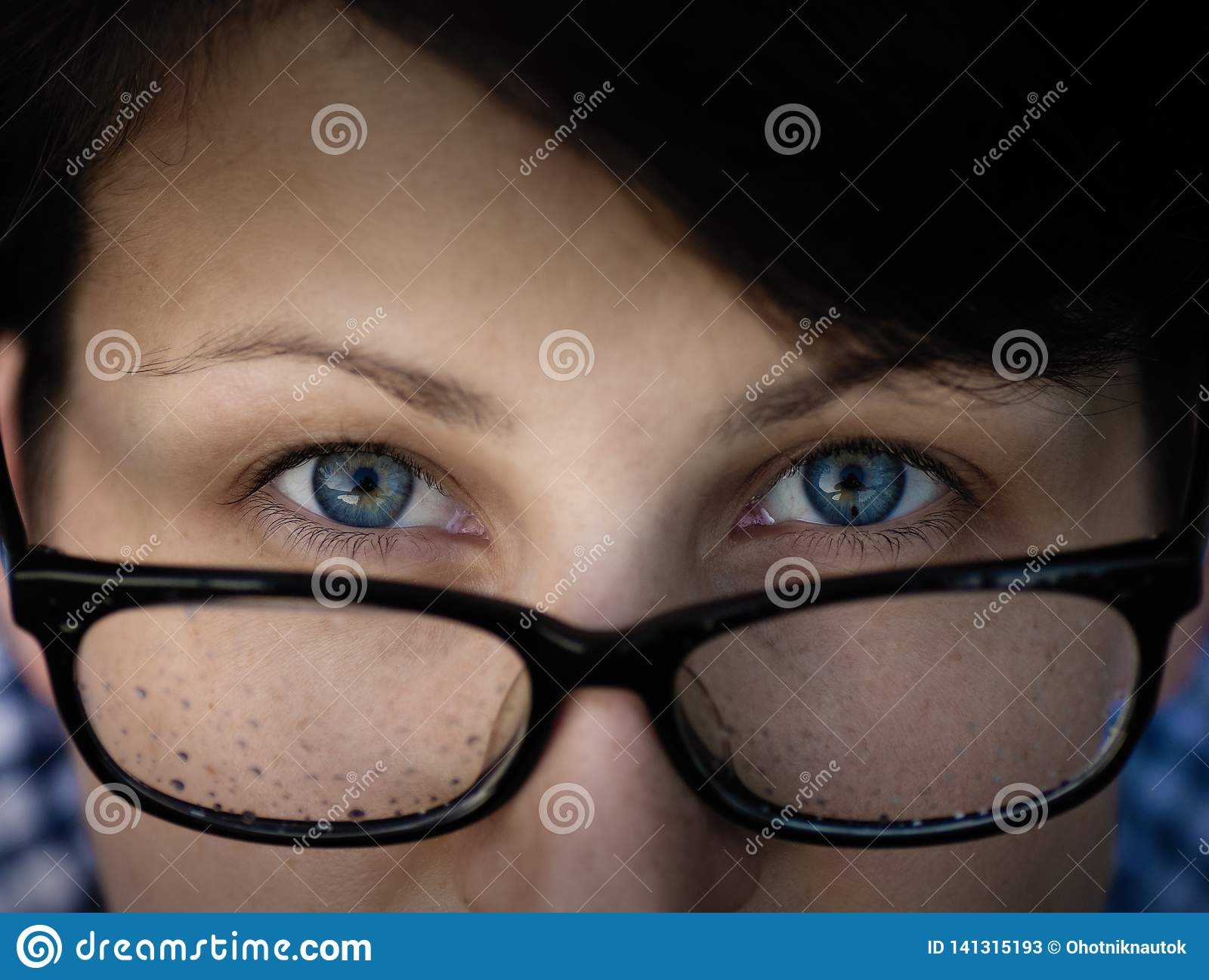 Woman with a glasses.