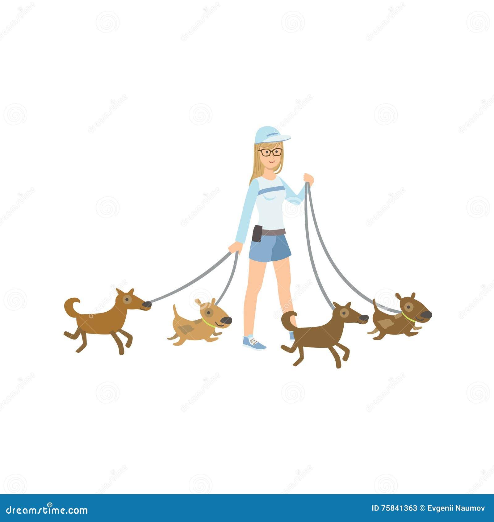 Cartoon Walking Dog