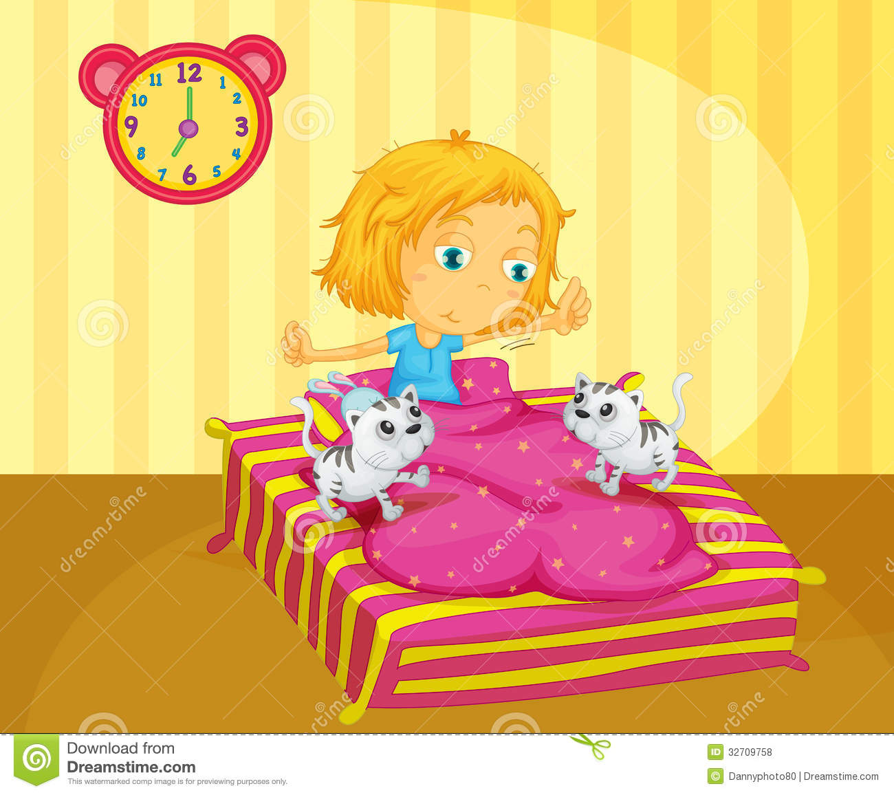 clipart of a girl waking up - photo #11