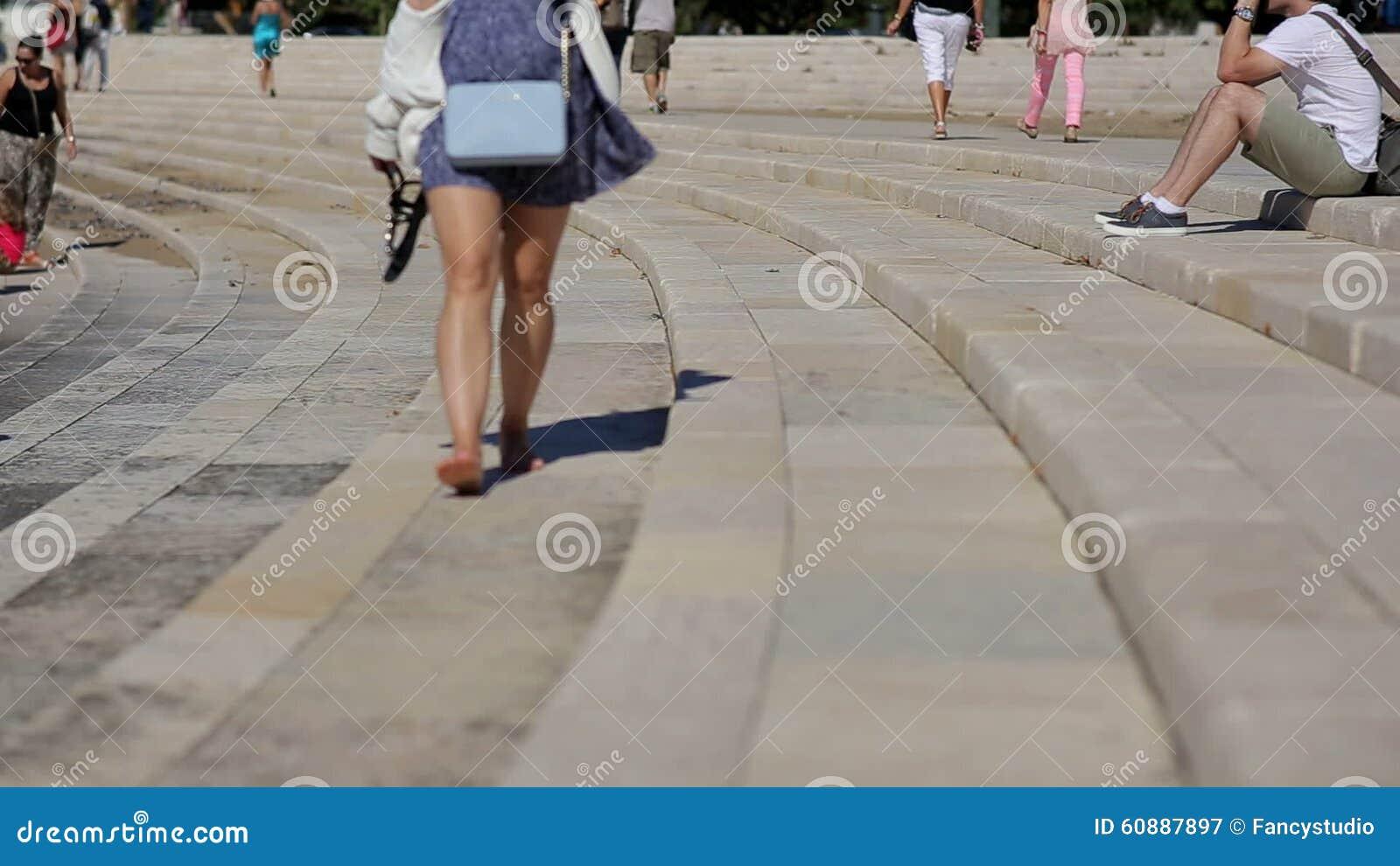 Girl walking barefoot at stage amphitheater belem stock video girl walking barefoot at stage amphitheater belem stock video video of land stairs 60887897 malvernweather Images