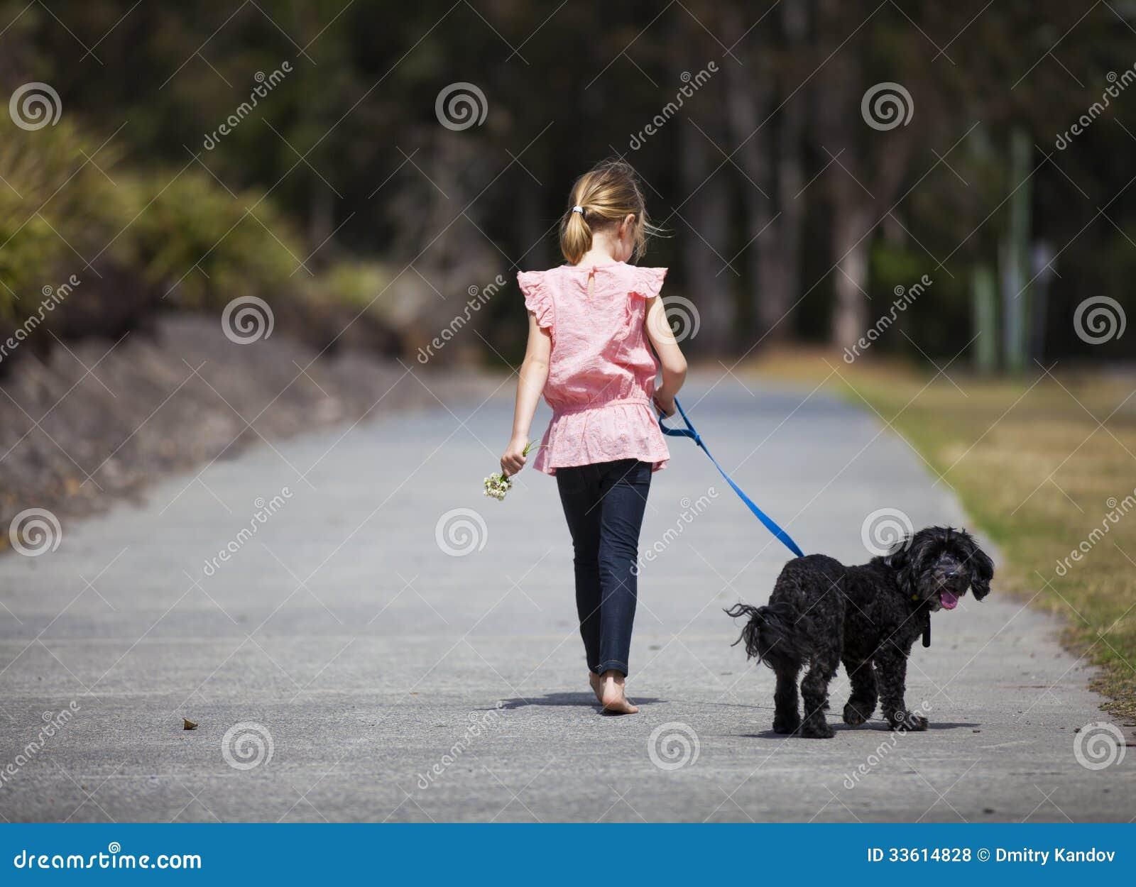 Young girl on leash-7051