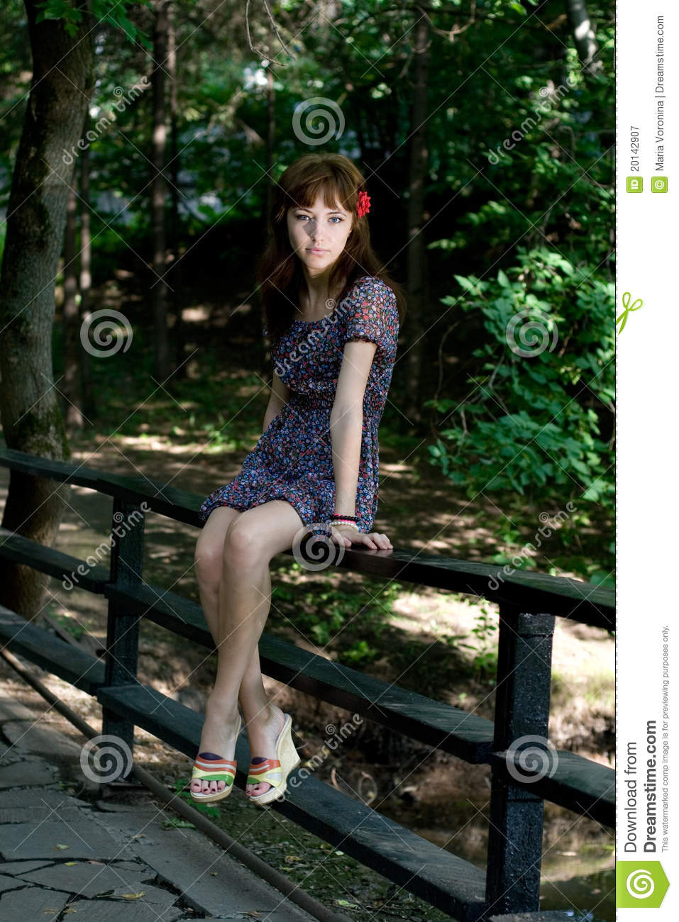 Girl Walking Outdoor Royalty Free Stock Photography ...