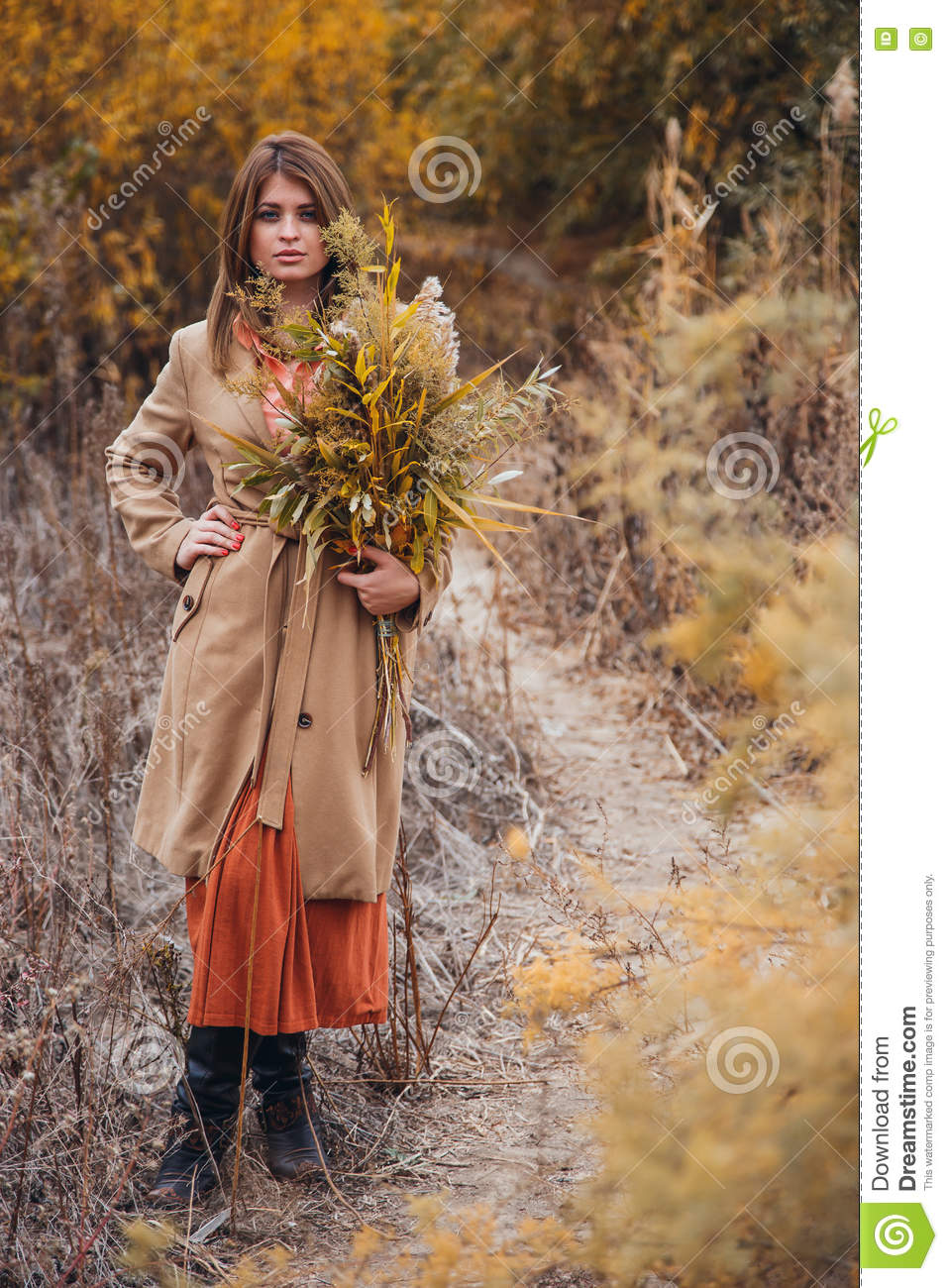 girl made of nature