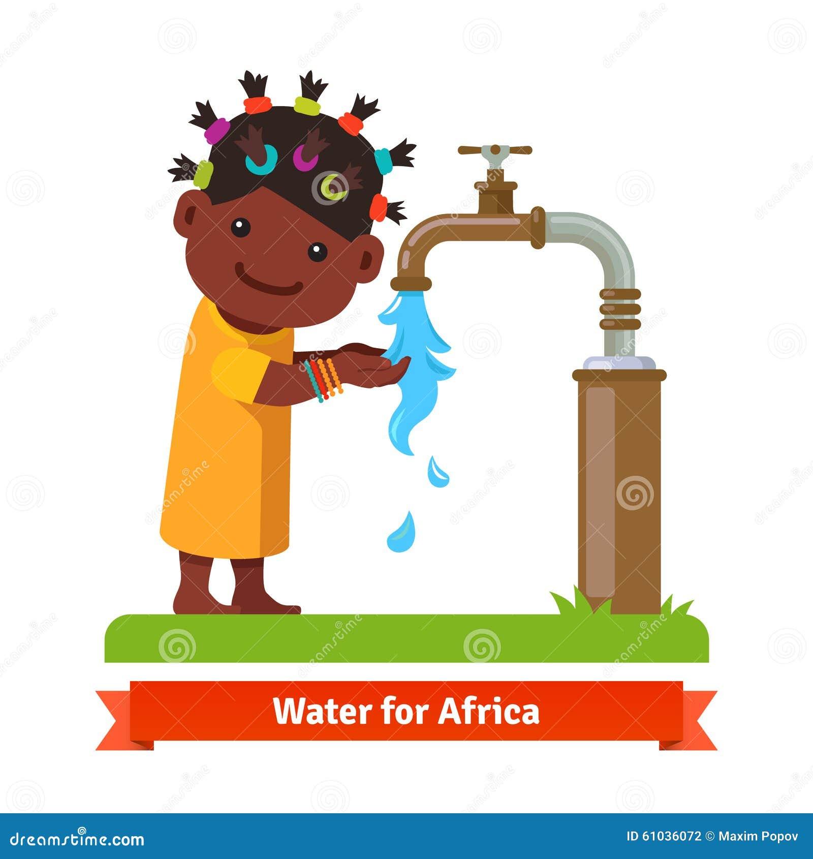 Drinking Water Faucet >> Girl Washing Hands. Water Shortage Symbol Stock Vector - Image: 61036072