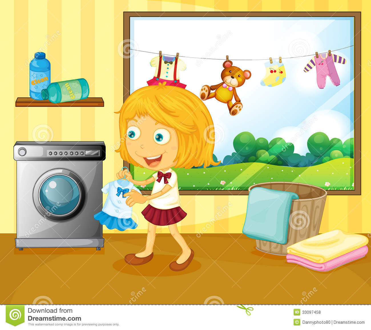 Bird house clipart free download clip art free clip art on - A Girl Washing Her Clothes Royalty Free Stock Photos