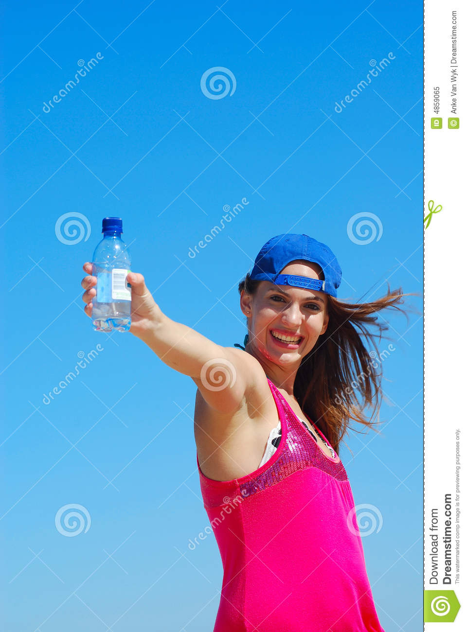 Girl With Water Bottle Royalty Free Stock Photo - Image ...