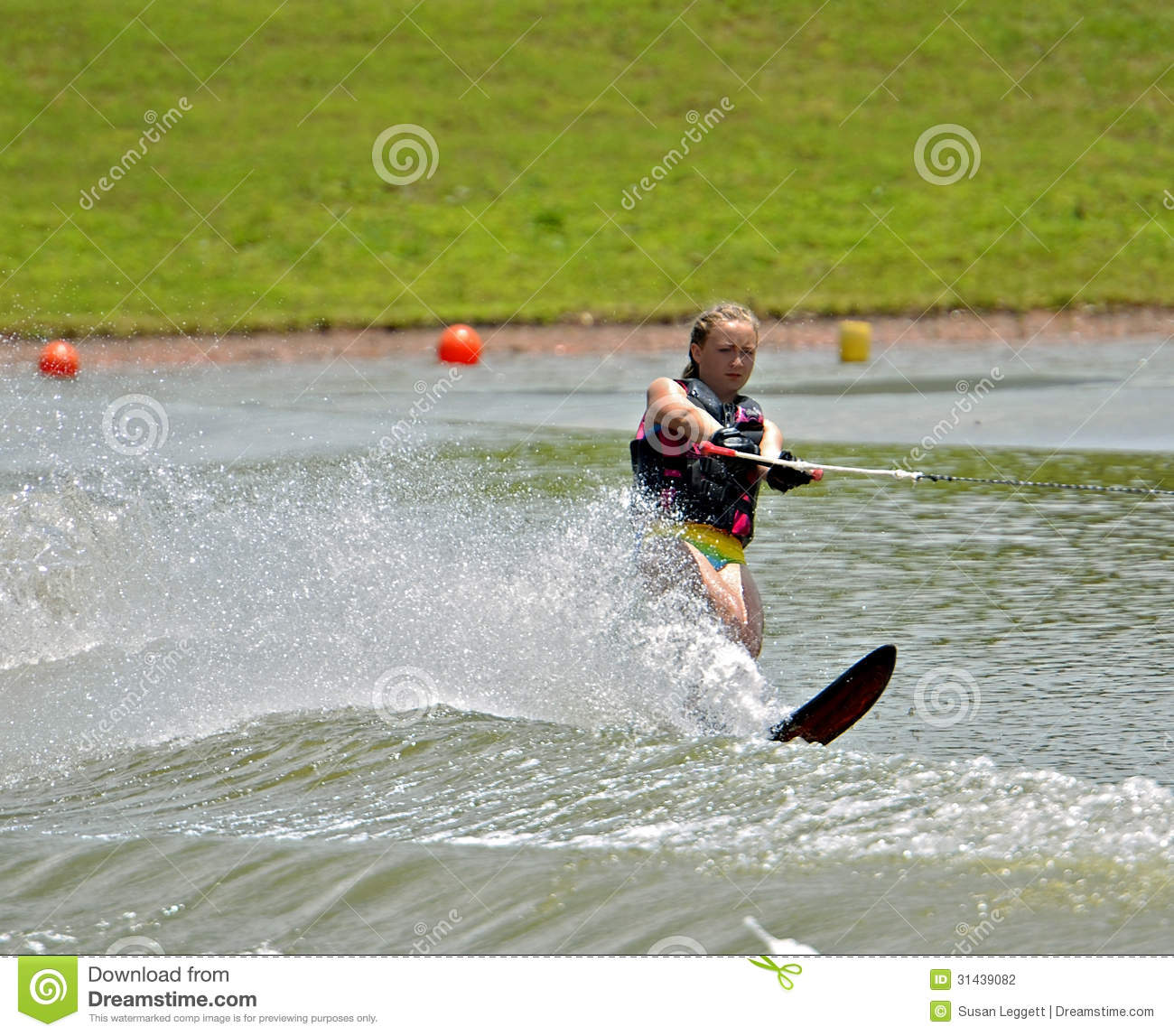 how to build a slalom ski course