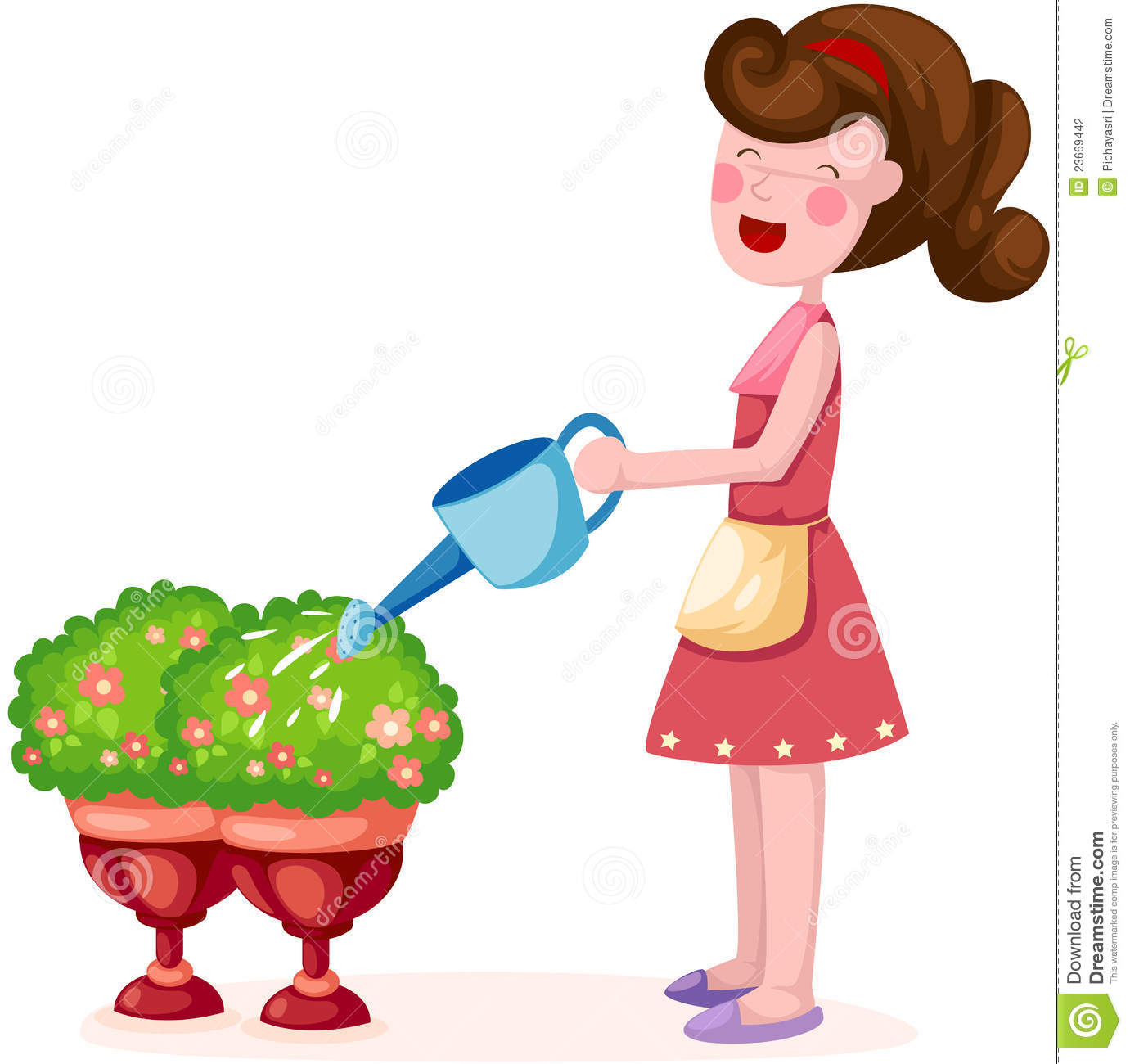 Girl Watering Plant Stock Photography Image 23669442