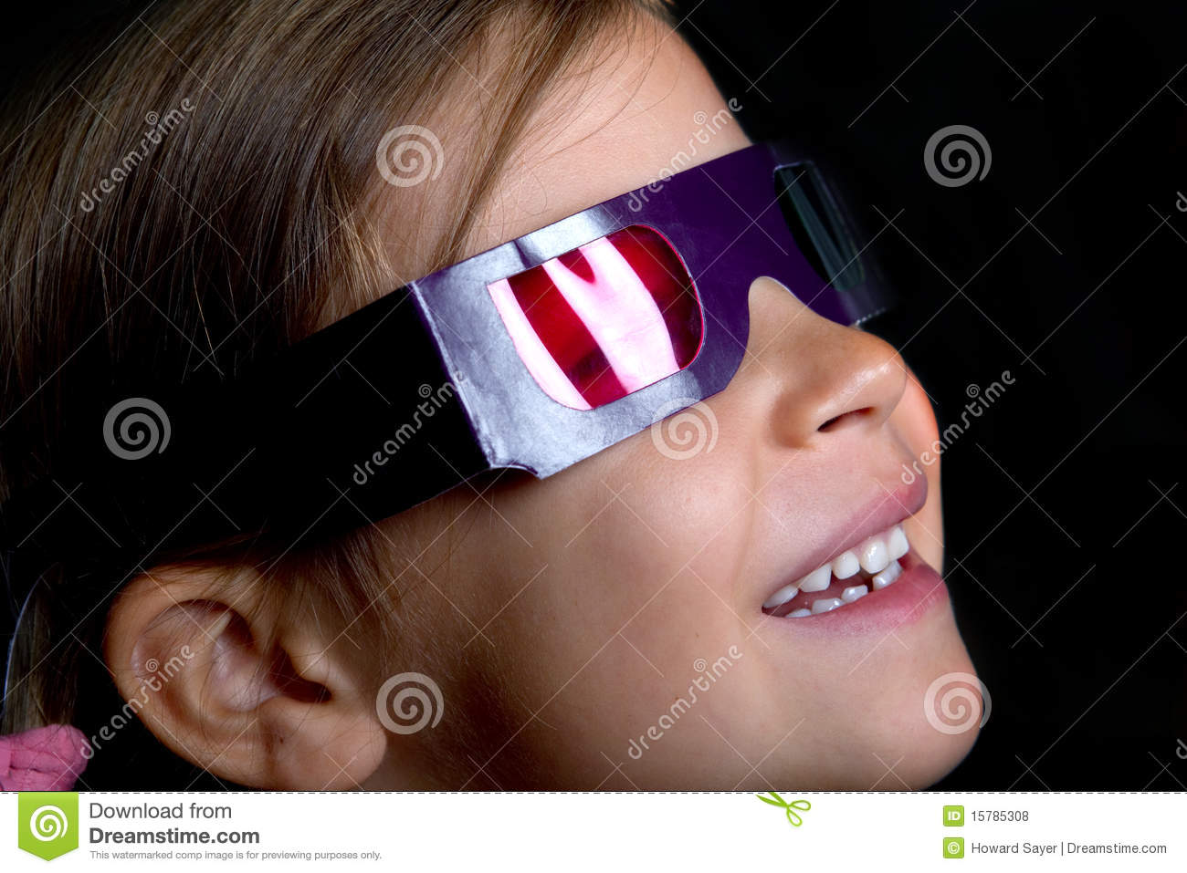 Girl Wearing 3D Glasses Royalty Free Stock Photos - Image ...