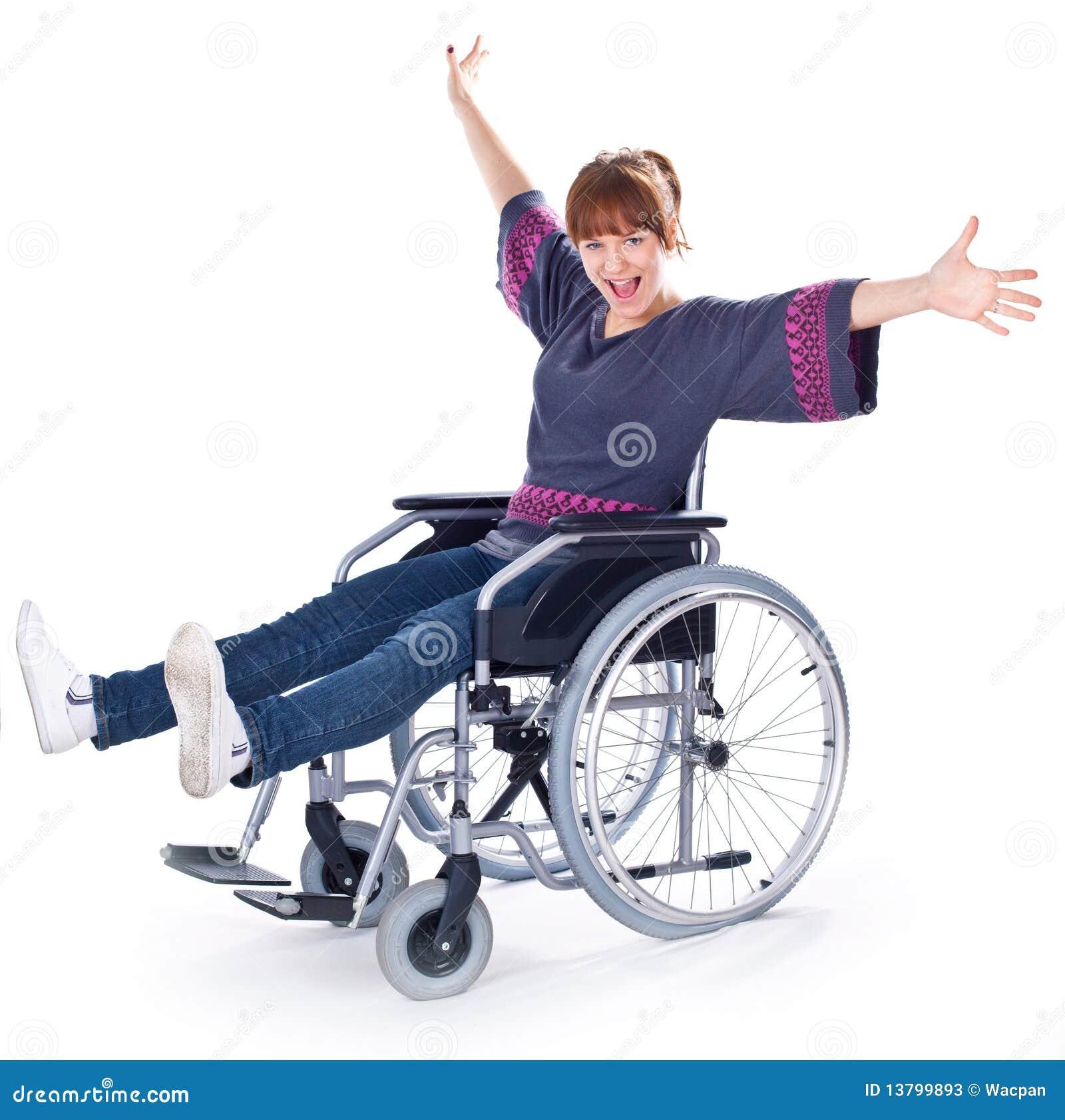 Girl on wheelchair