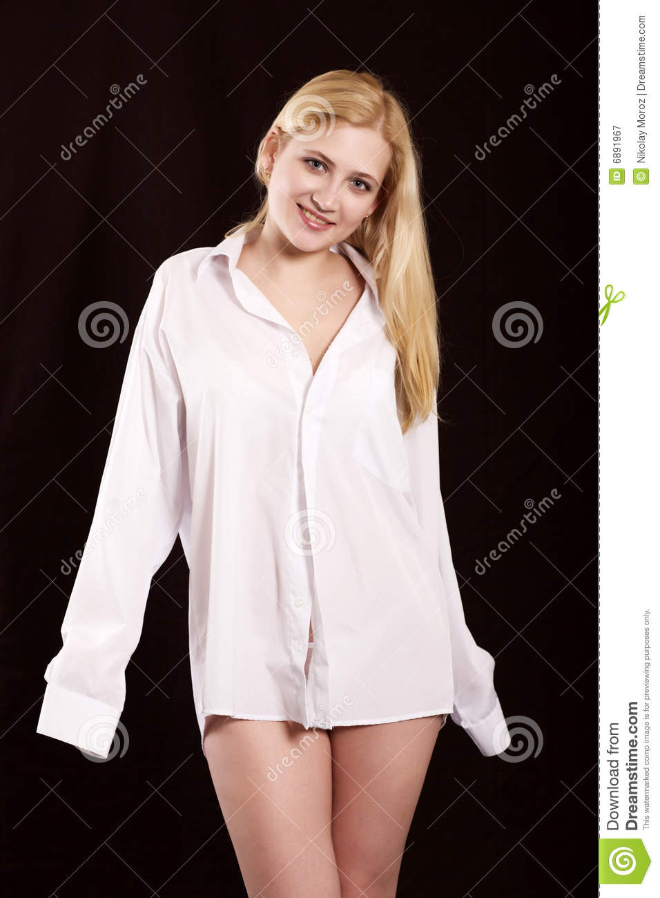The girl in a white shirt stock image. Image of positivity - 6891967