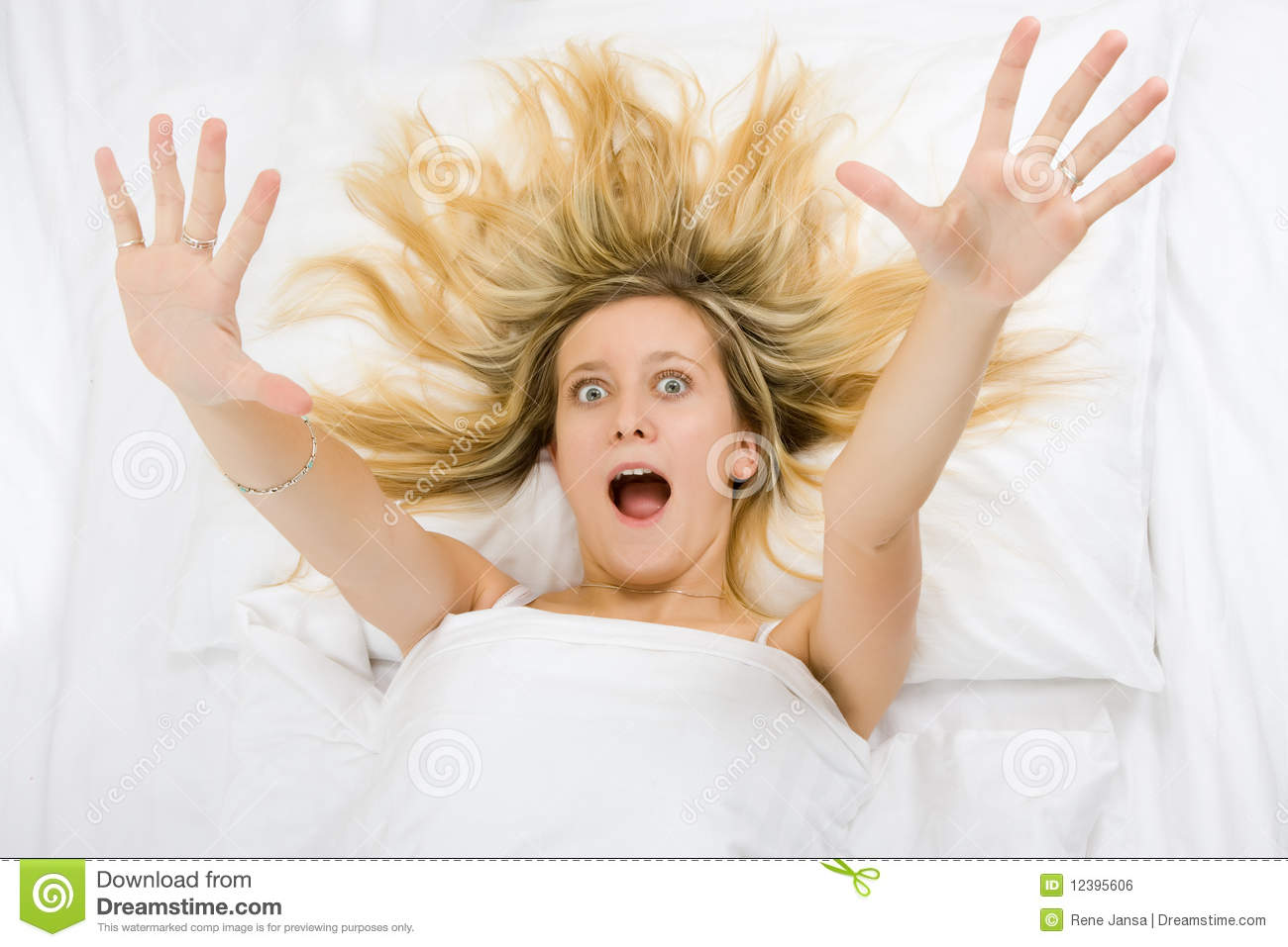 Girl Wide Awake Stock Photo Image Of Blond Surprised