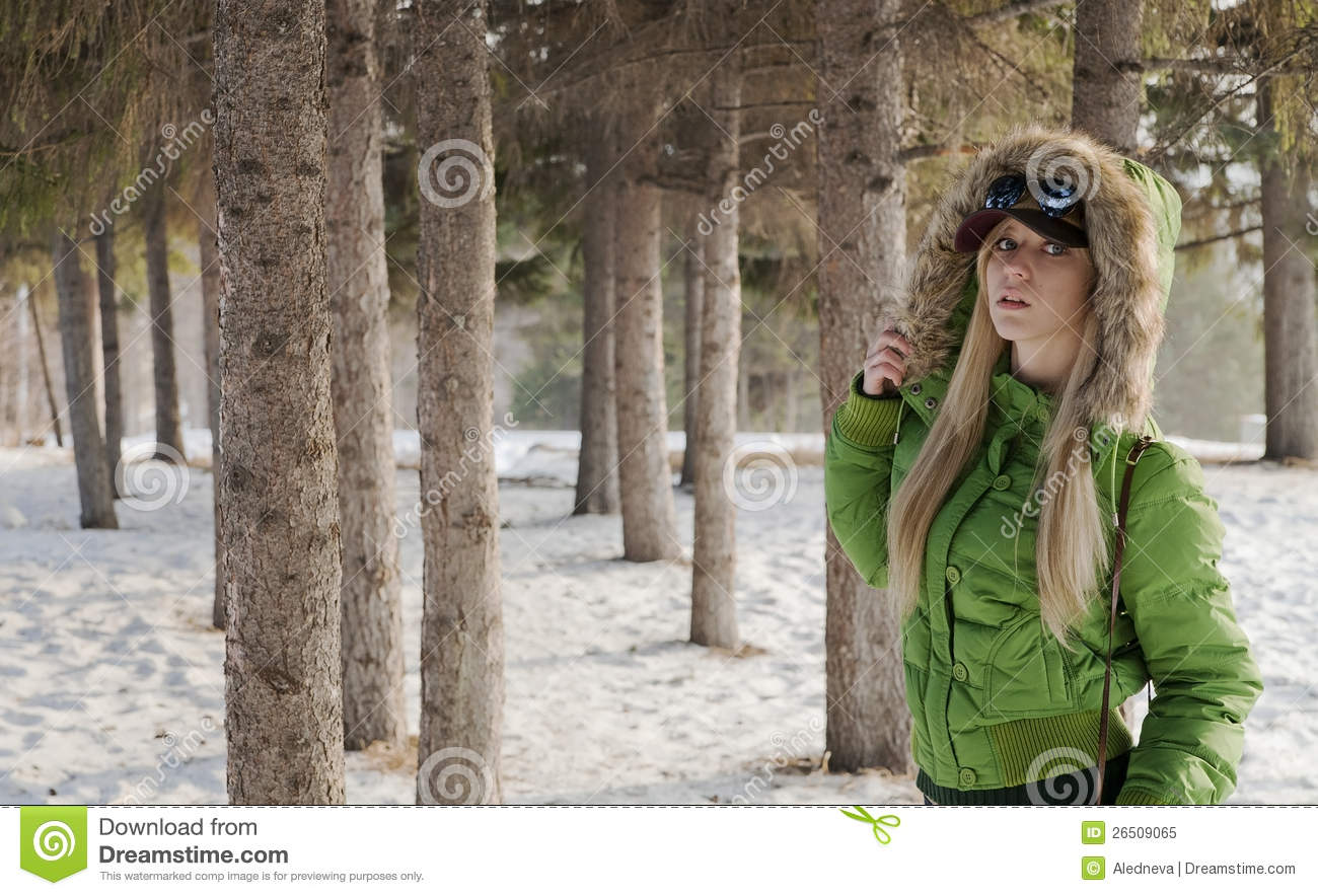 Girl In Winter Jacket Royalty Free Stock Photo Image