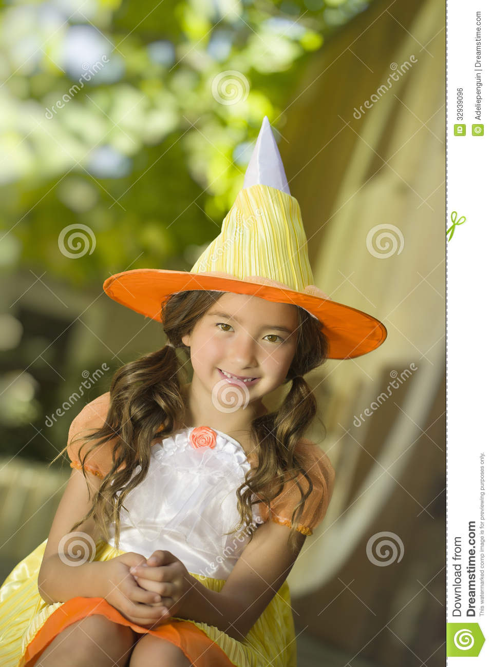 Girl In Witch Costume, Halloween Royalty Free Stock Image - Image ...