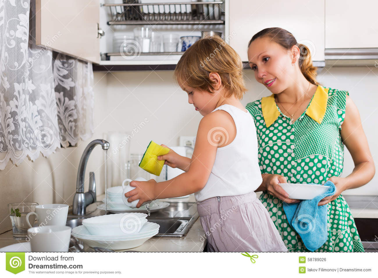 why the women wash the dishes
