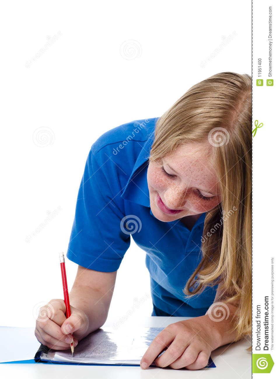 Property Management girls writing paper