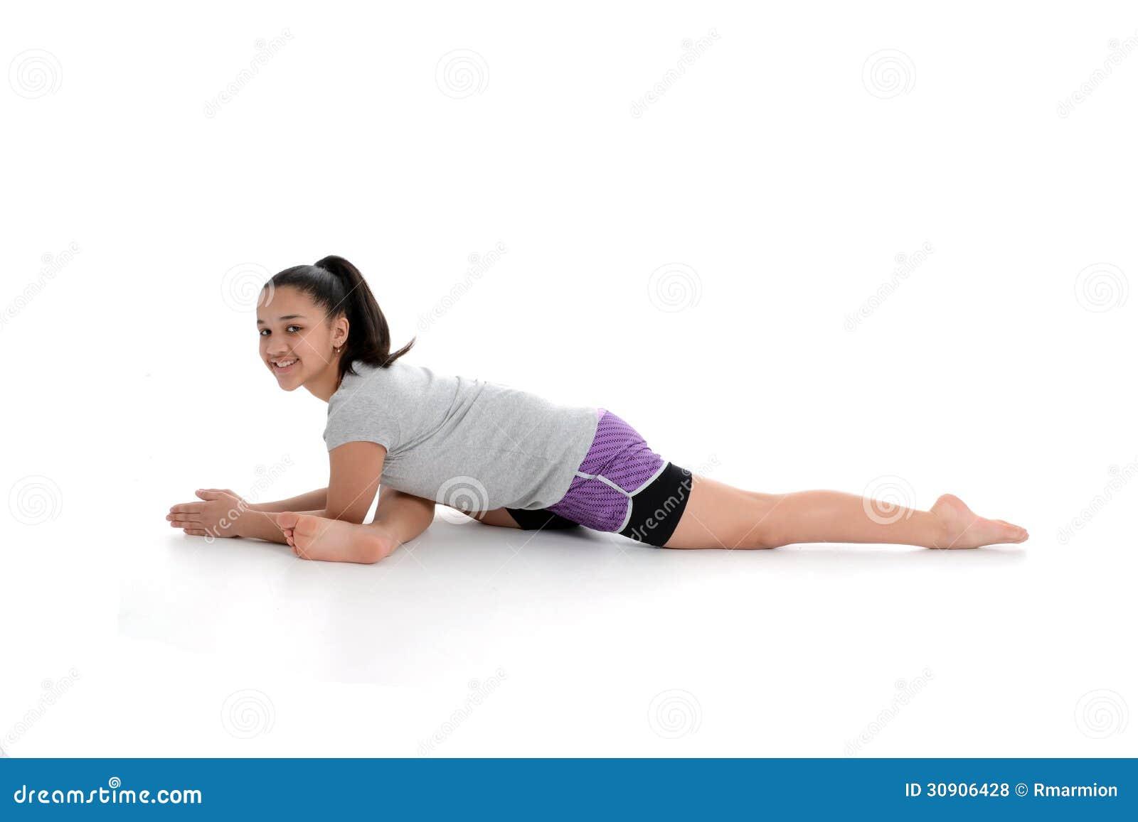 Girl In Yoga Pose Royalty Free Stock Photos - Image: 30906428