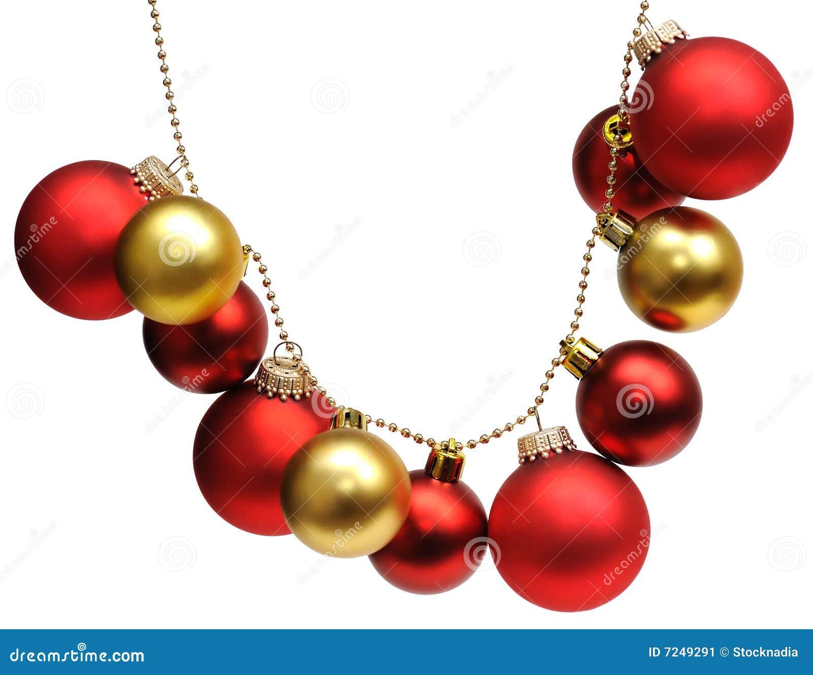 Girlande von den weihnachtskugeln stockbild bild 7249291 - Bilder weihnachtskugeln ...