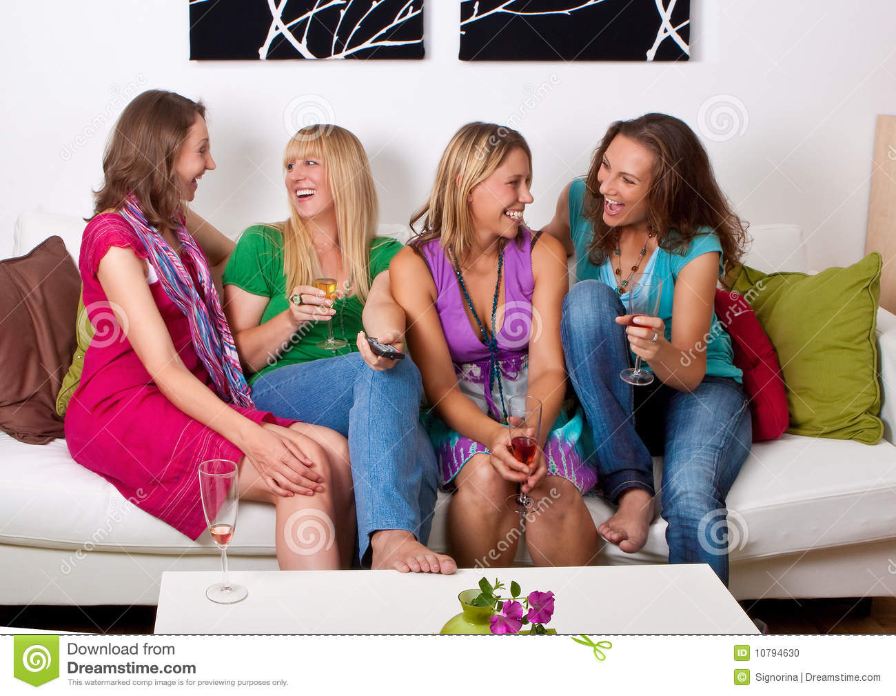 Girlfriends on the couch 7