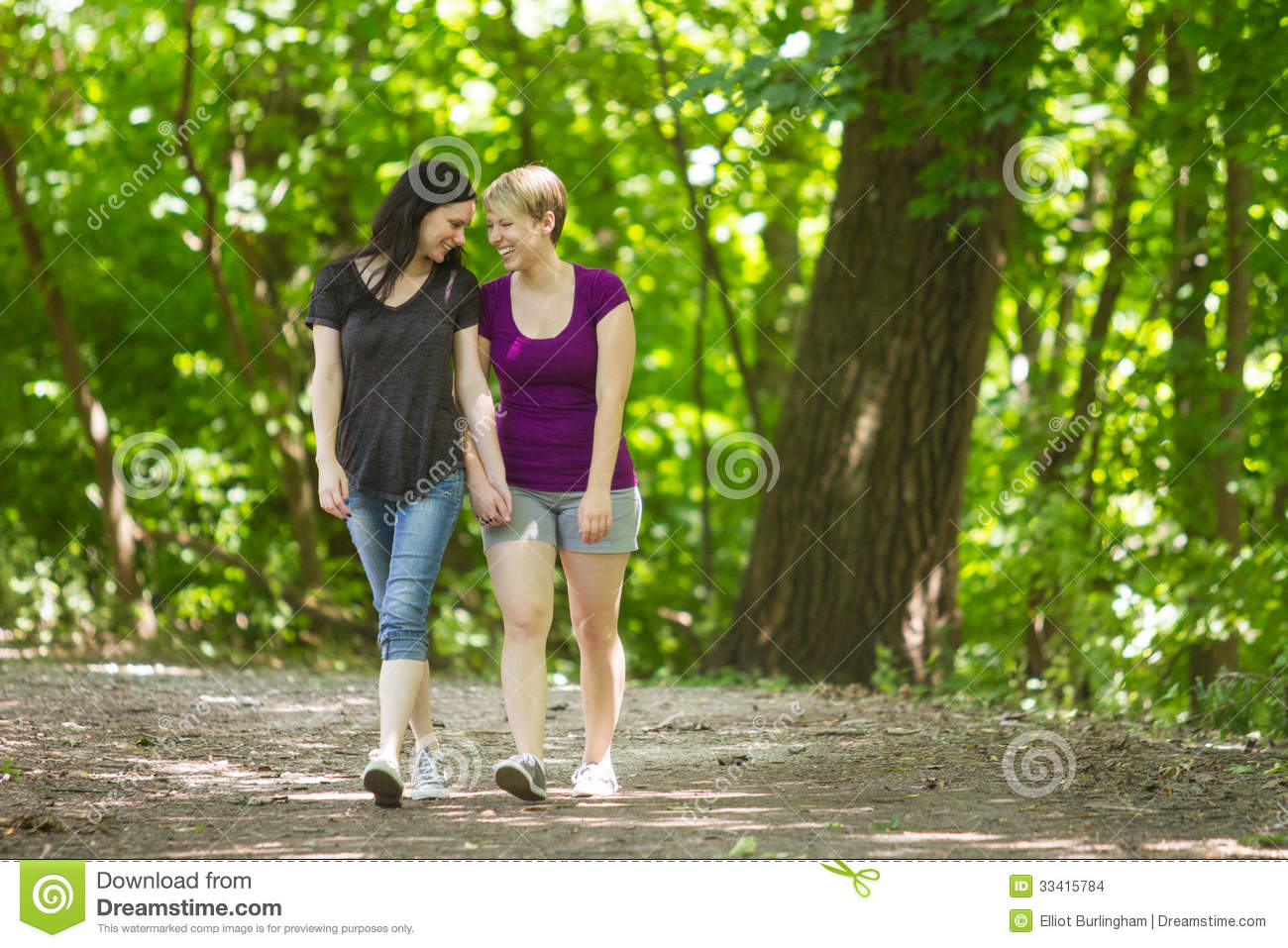 Two girlfriends walking in forest and meeting a guy - 2 part 1