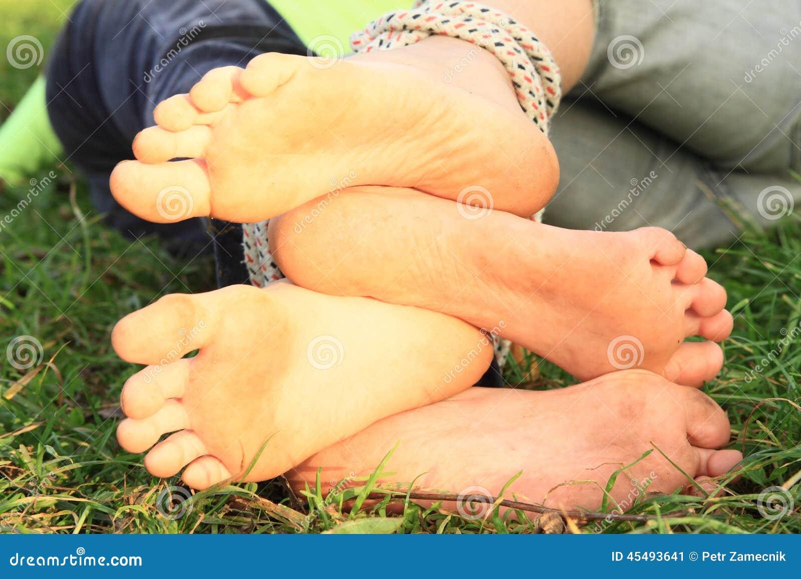 GirlsÂ赤脚鞋底