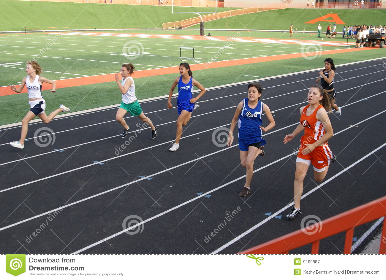 girls 100 meter race editorial photography image 9109887. Black Bedroom Furniture Sets. Home Design Ideas