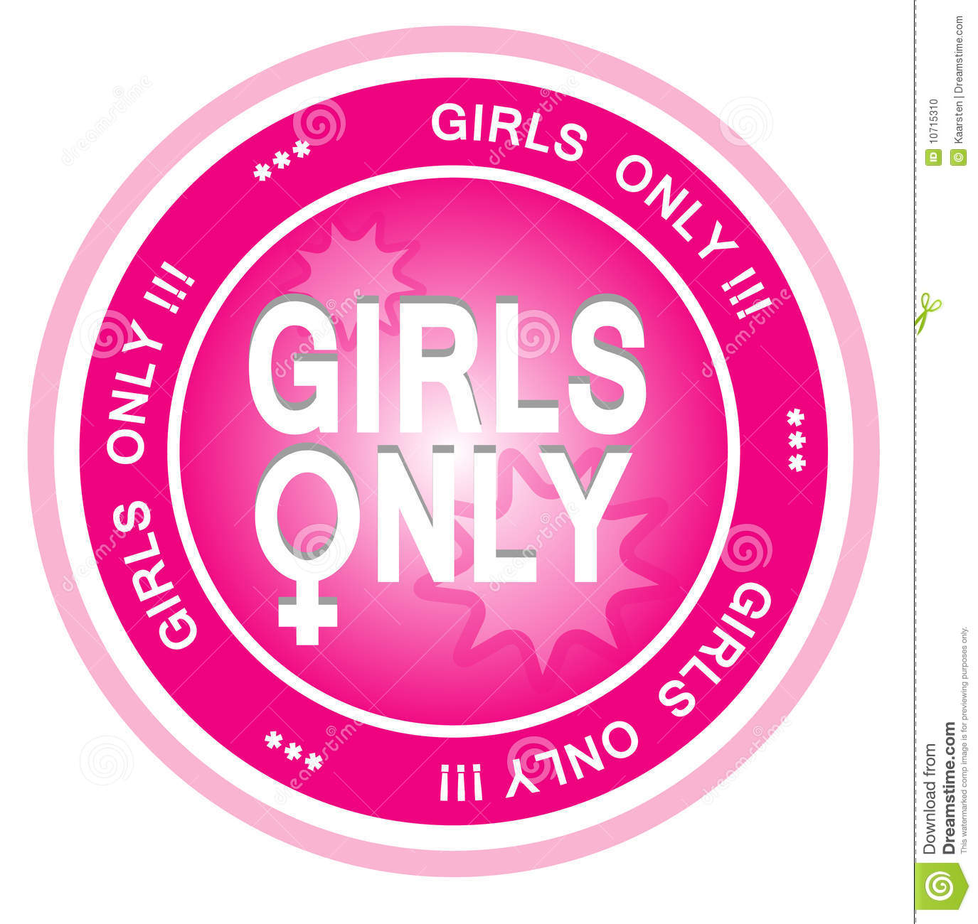Girls Only Stock Photo - Image: 10715310