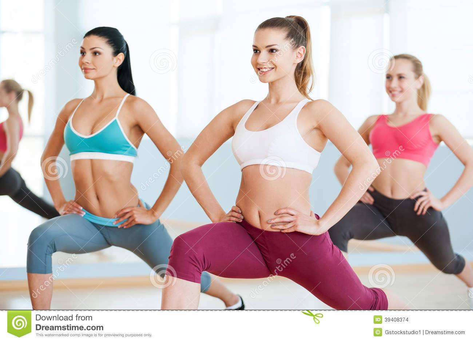 Sexy aerobics girls