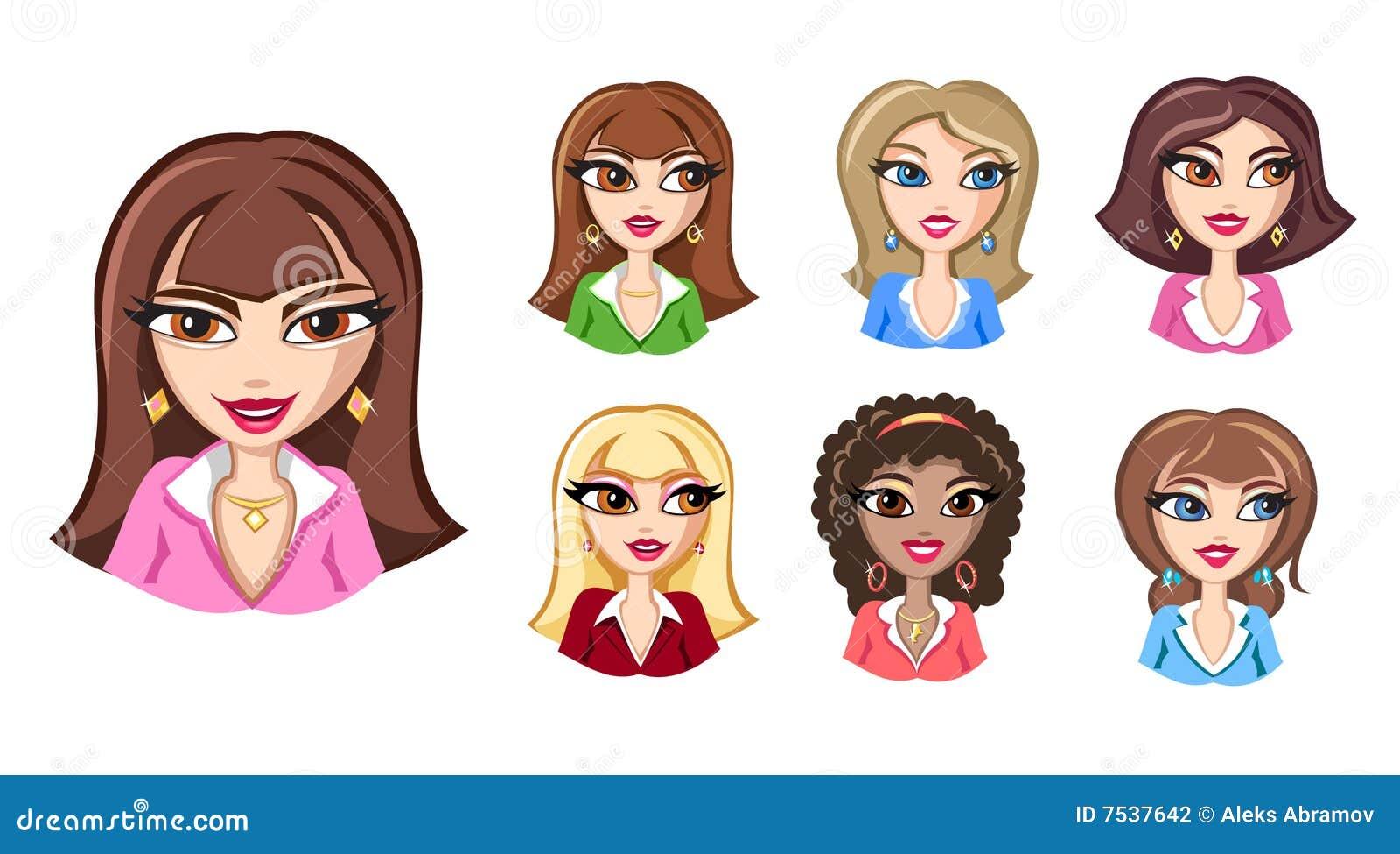 Girls Avatars Stock Photography - Image: 7537642   1300 x 809 jpeg 112kB