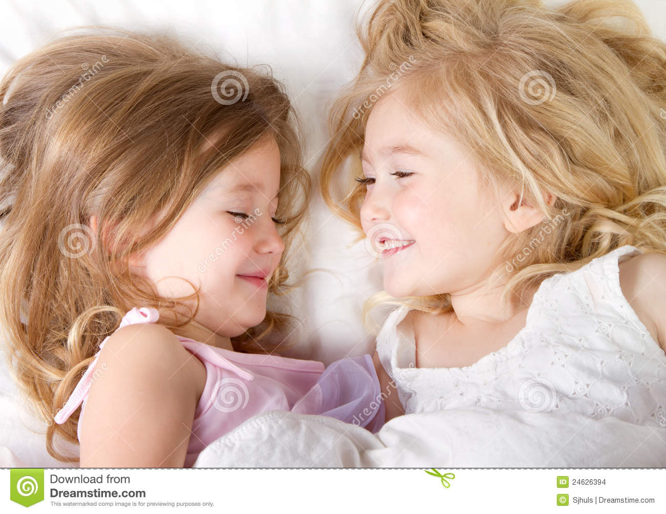 Girls In Bed Having A Sleep-over Stock Photo - Image: 24626394