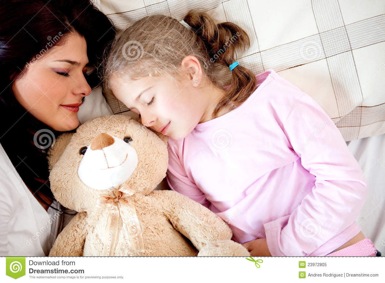 Girls Bedtime Stock Image Image Of Mother Nighttime