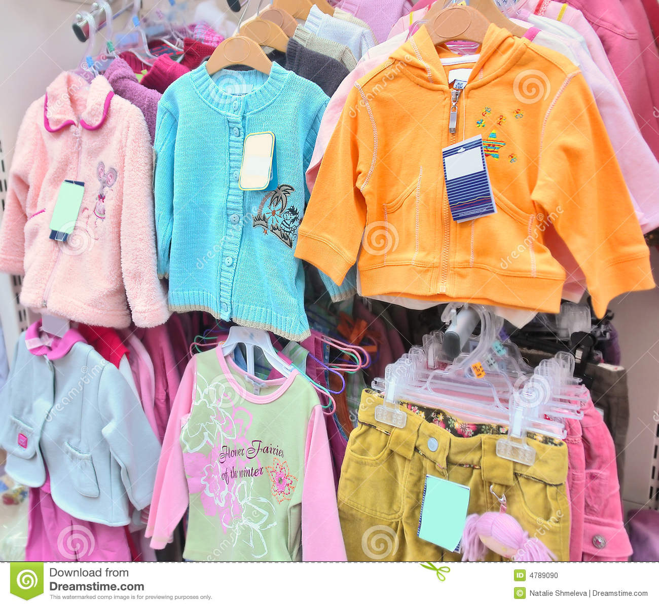 Girls' Clothes In A Store Stock Photo - Image: 4789090