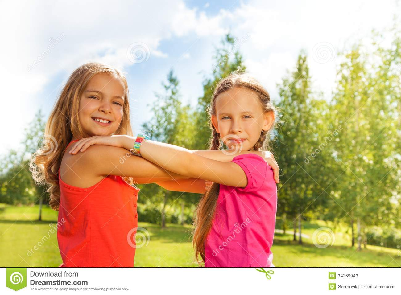 Girls Dance In The Park Stock Photos - Image: 34269943