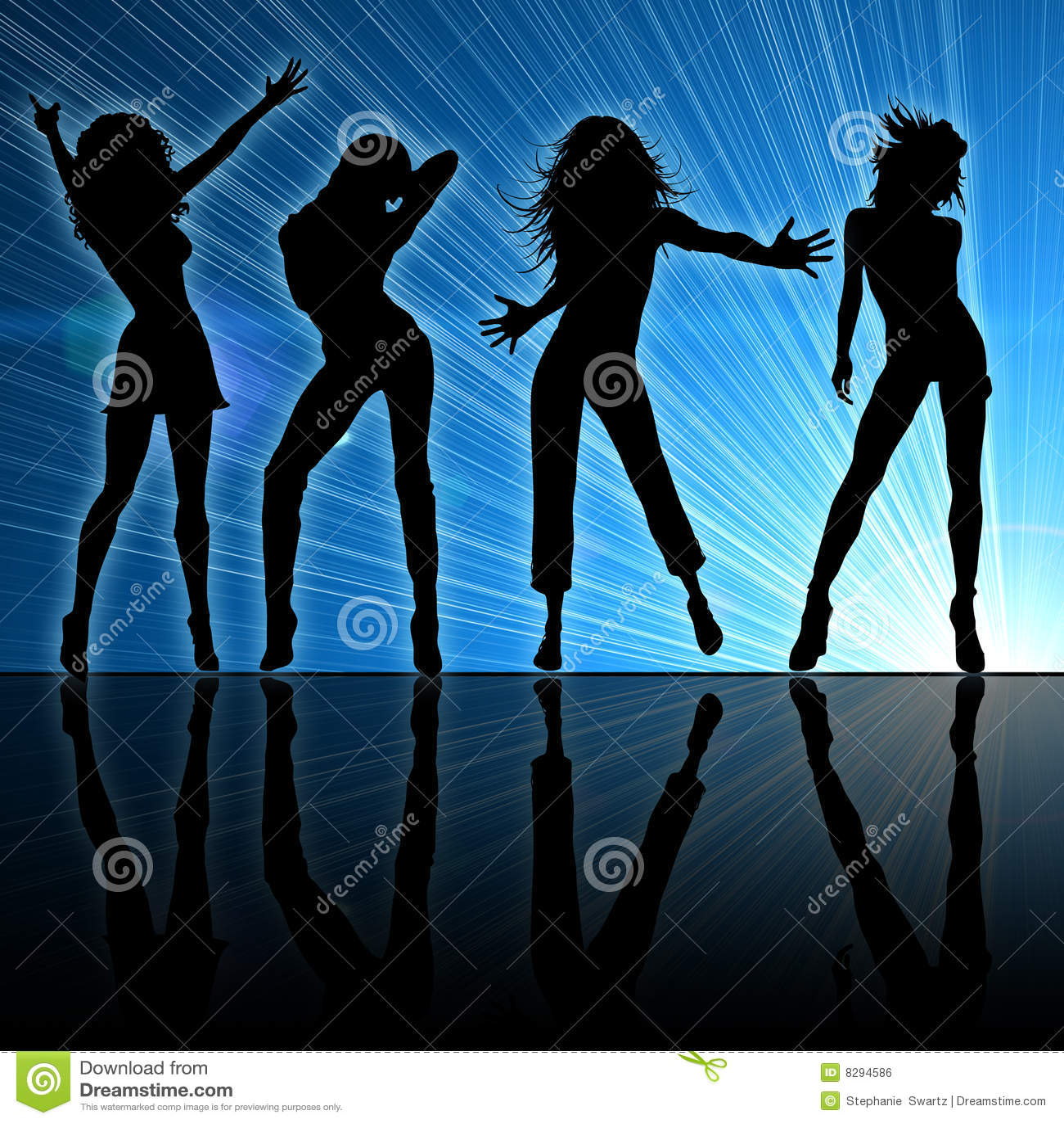 girls dancing stock illustration  illustration of