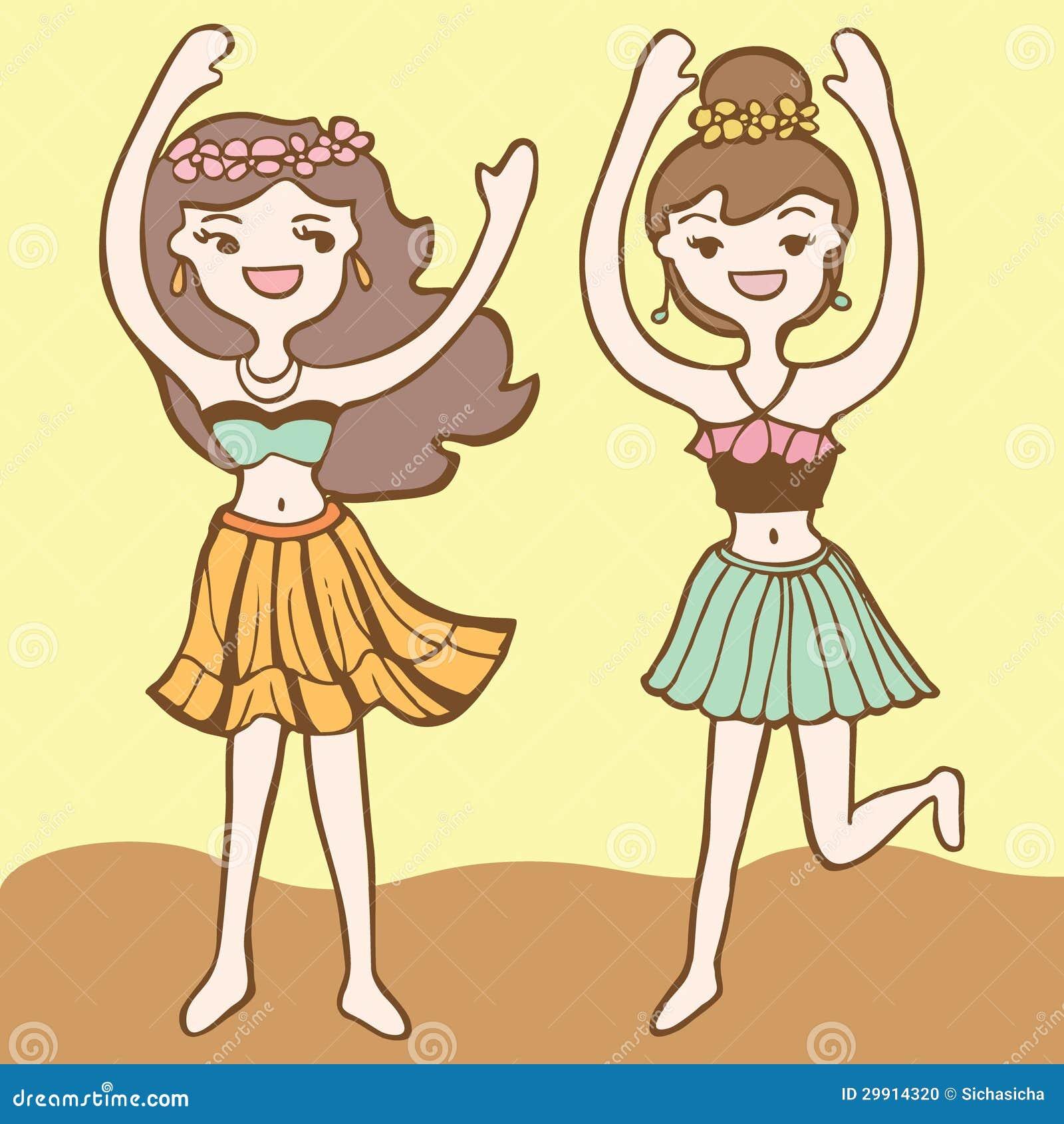 Girls Dancing Hula Stock Photo - Image: 29914320