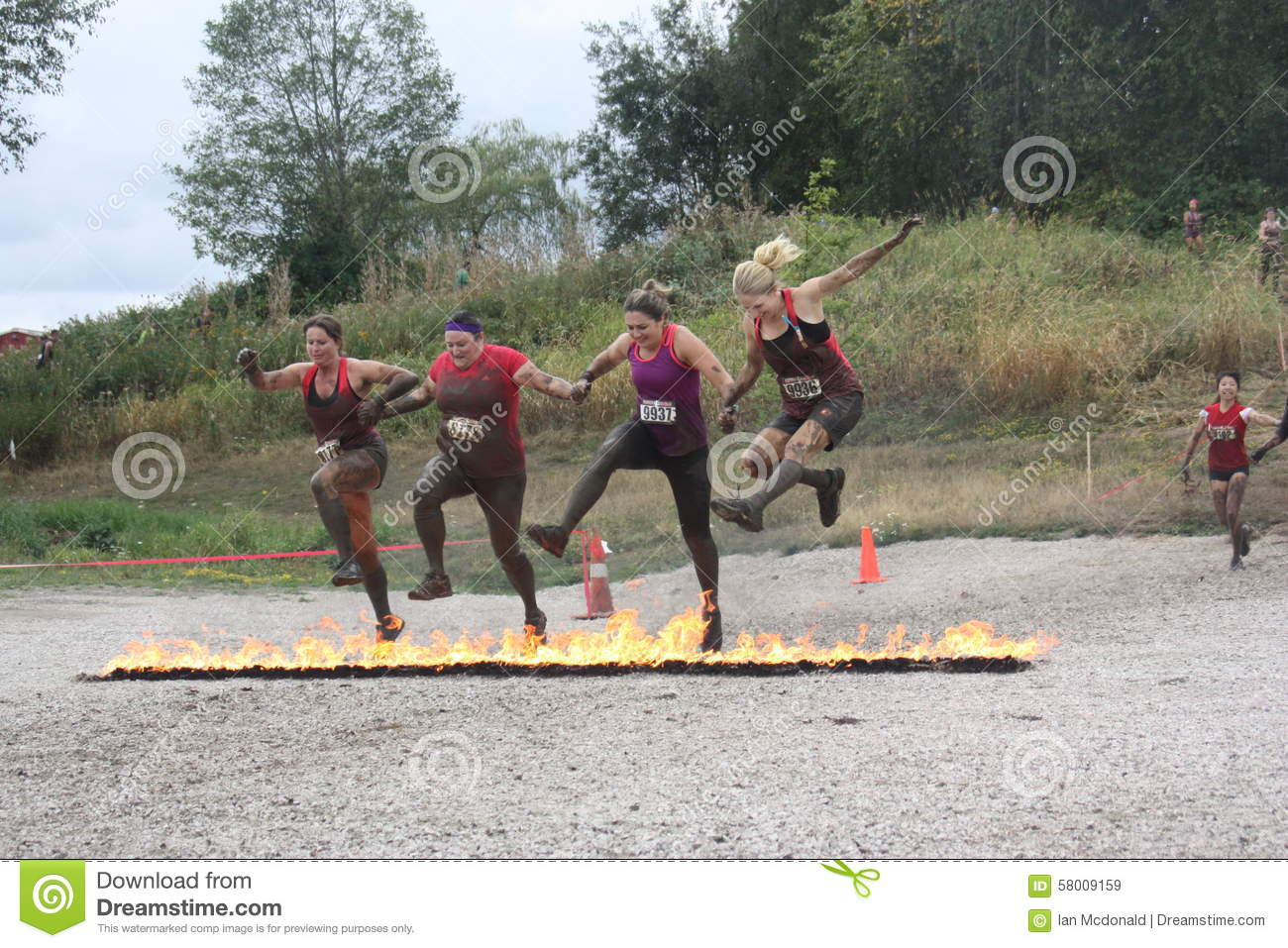 Girls On Fire Editorial Stock Image Image Of Near