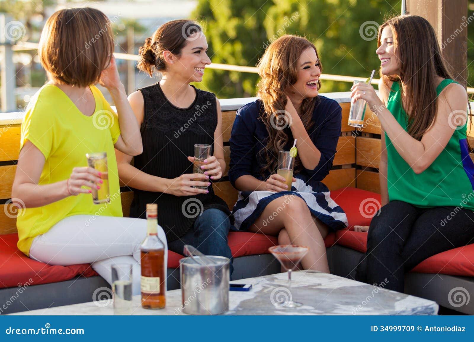Girls Having Fun At A Bar Royalty Free Stock Images ...