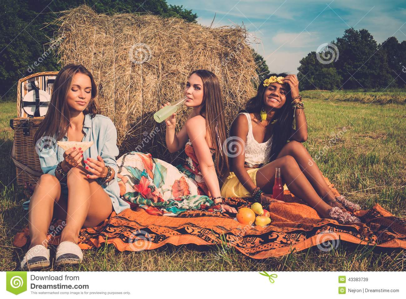 Stock Photography of 1970S 1980S Group Teen Boys Girls Having ...