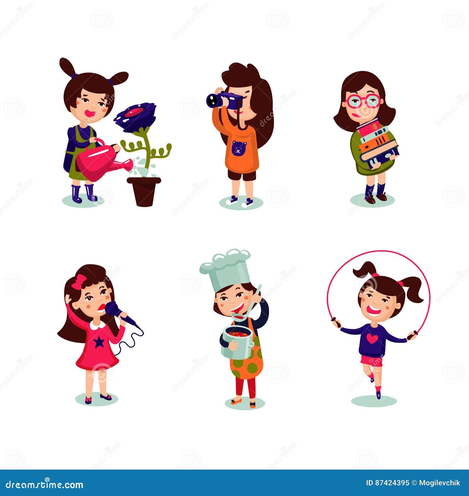 Hobbies of girls