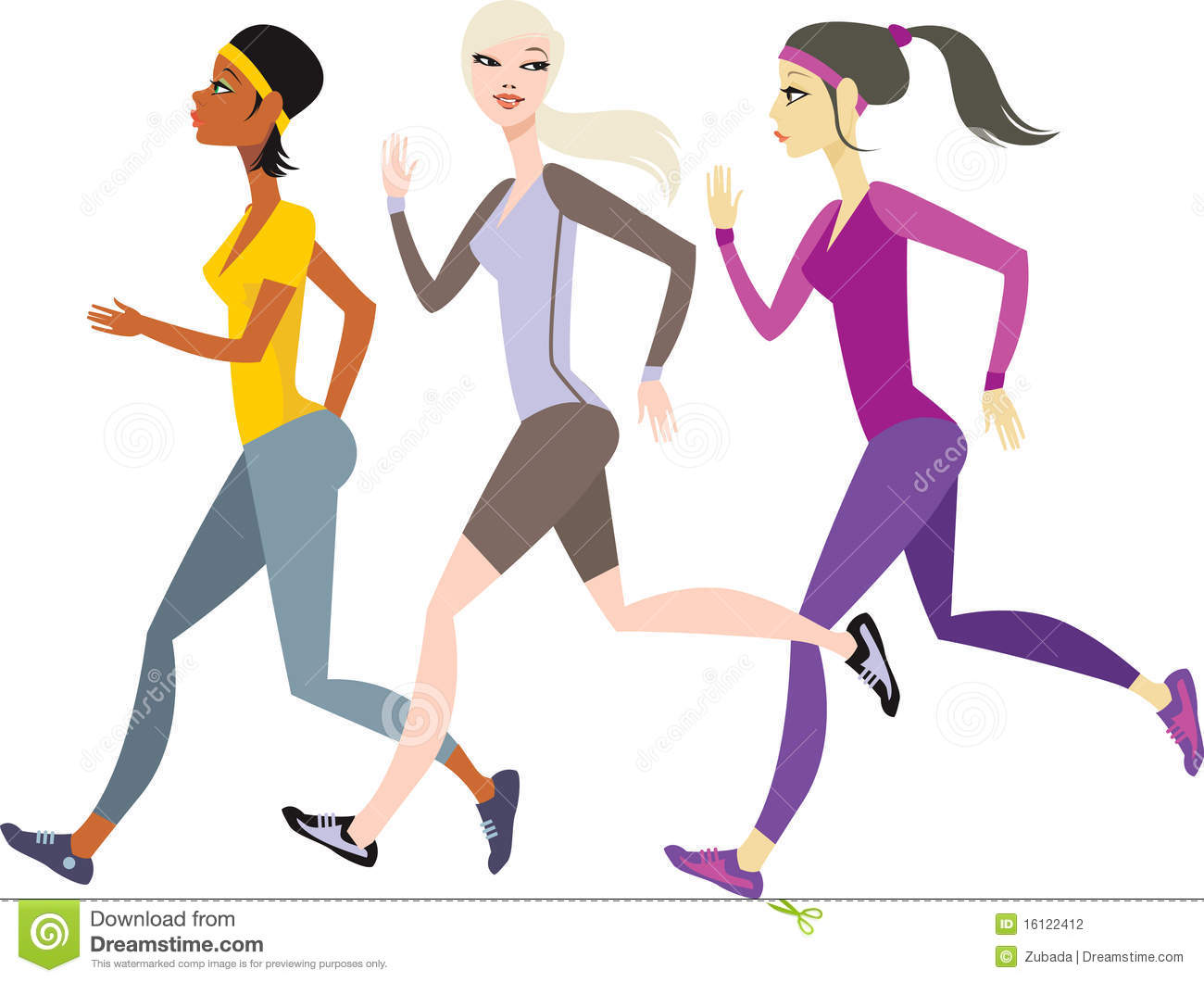 Girls Jogging Stock Photography - Image: 16122412