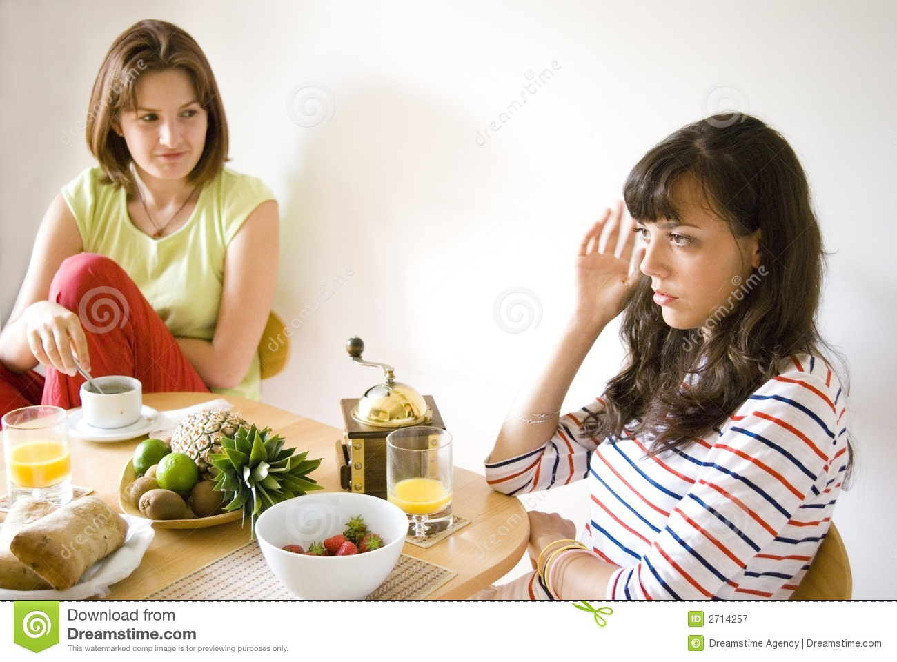 Girls in the kitchen royalty free stock photography for Xnxx in the kitchen