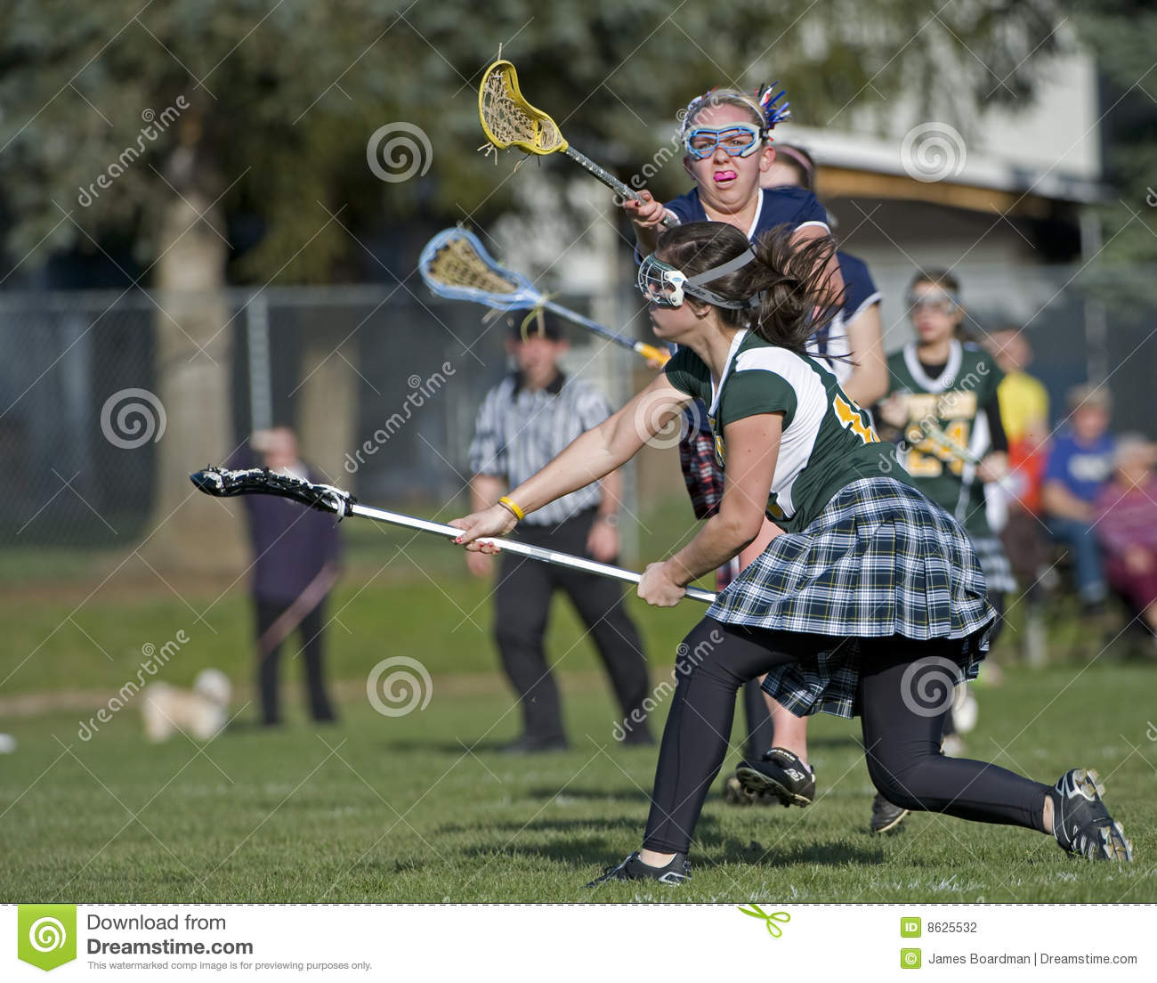 Girls lacrosse shot