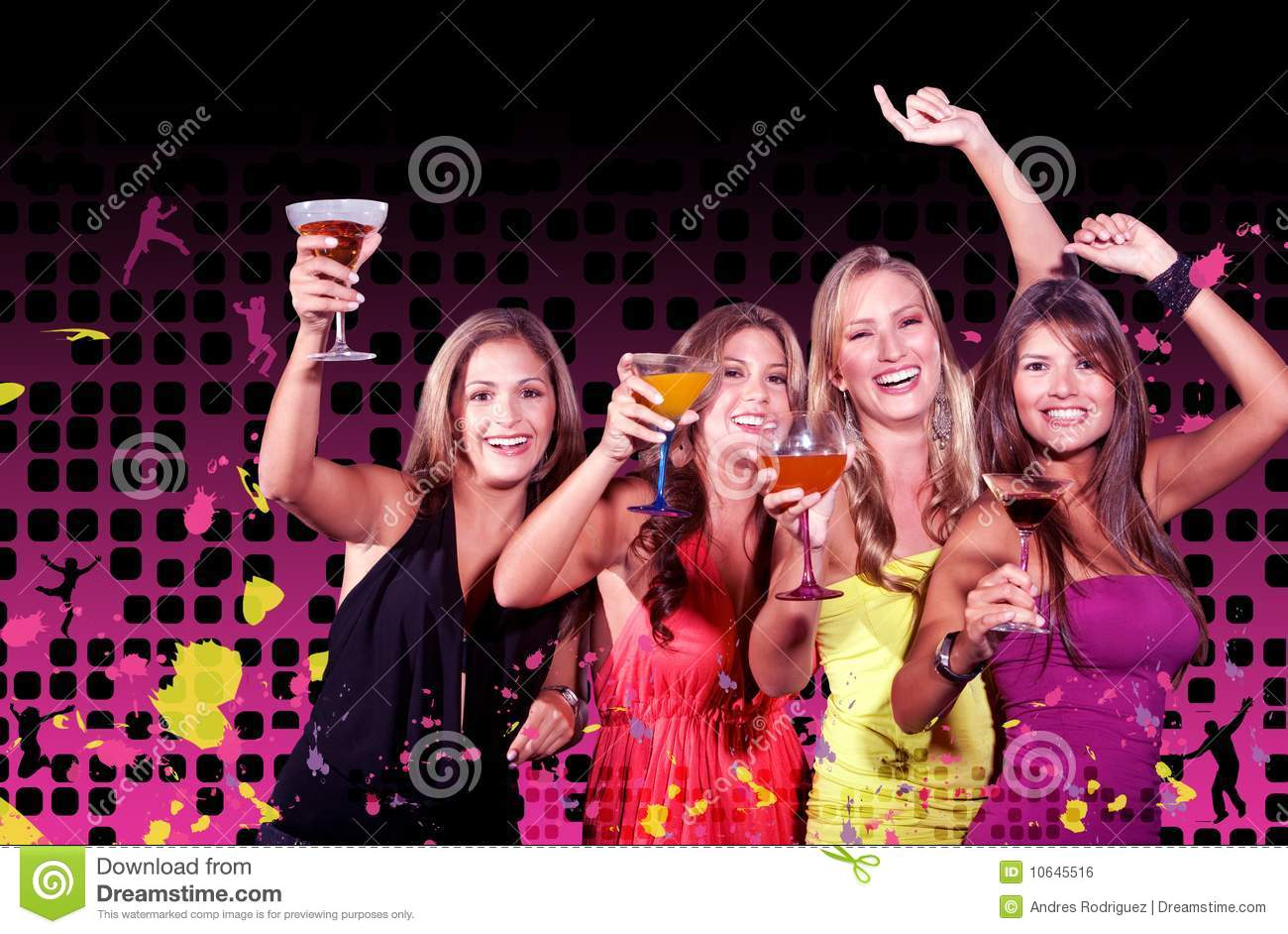 Girls Night Out Royalty Free Stock Image Image 10645516