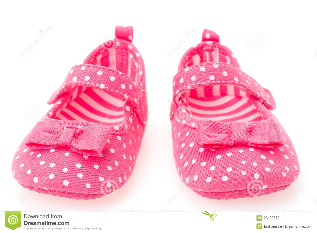 Girls Pink Baby Shoes Stock Image