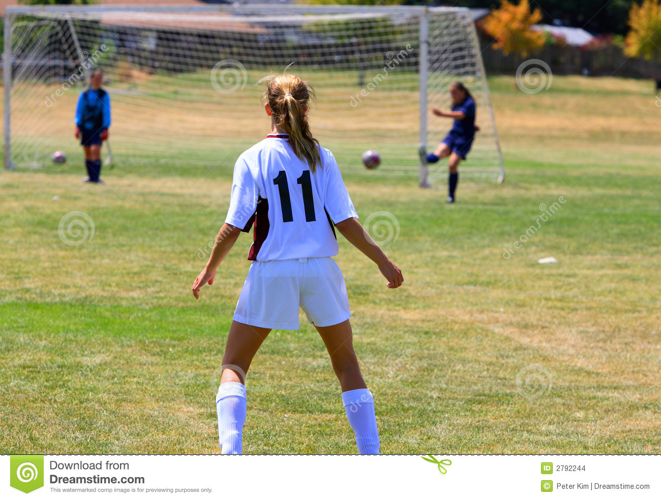 Girls Playing soccer stock photo. Image of athlete ...