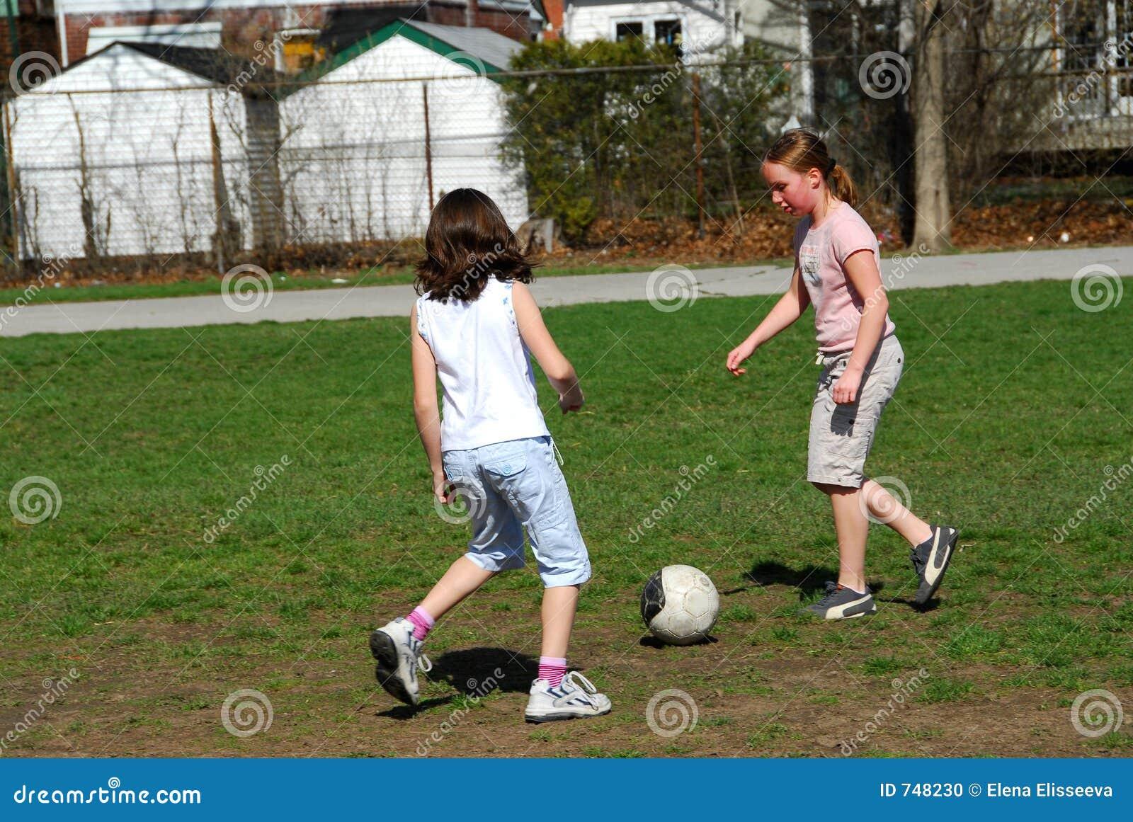 girls playing soccer stock photo image 748230