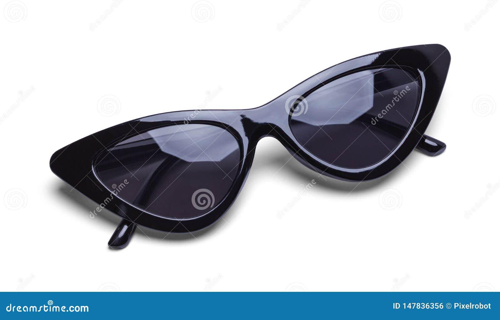 Girls Retro Black Sunglasses