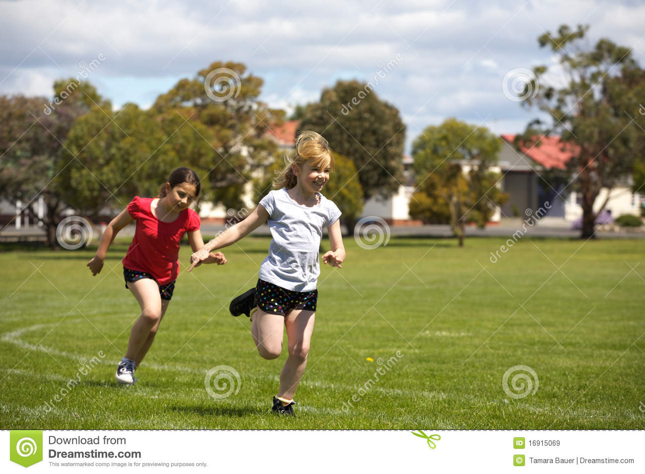 Royalty Free Stock Images: Girls running in sports race