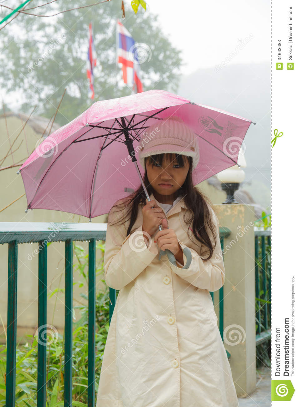 Girls and sadness. stock image. Image of umbrella, weather ...
