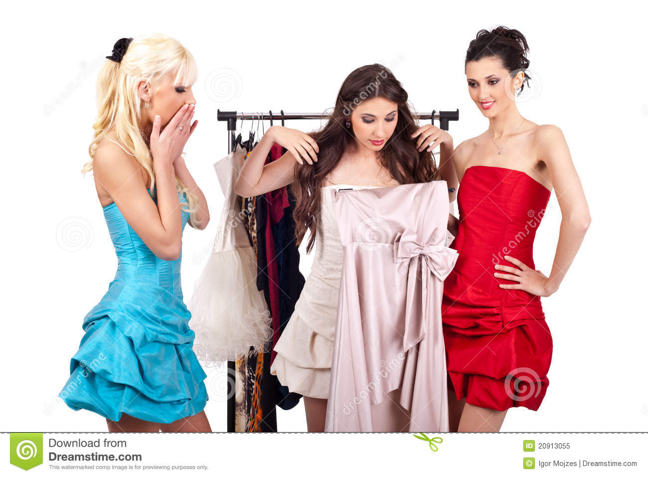 Online shopping of girl dresses